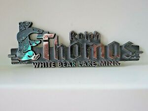 Long Gone ralph Thomas Chevrolet White Bear Lake Mn Dealer Deck Lid Emblem