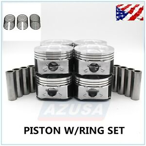 Piston W Ring Set Std For 1996 2002 Gm 5 7l Chevy 350 Cadillac Gmc V8 Ohv Vortec