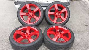 2010 2018 20 Chevrolet Camaro Ss Red Wheels Tires Factory Oem Set 5443 5445