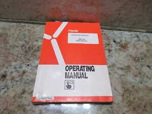 Mazak Operating Manual Mac gl Multiplex Machine No 111516 10 1991 Cnc Mill Lath