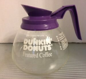 Bunn 64oz Commercial Dunkin Donuts Featured Coffee Pot Decanter Purple Handle
