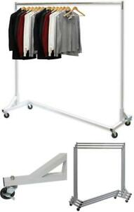 Industrial Grade Z Base Garment Rack Comes With Heavy Duty Wheels With Brakes