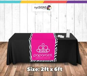 Paparazzi Jewelry Pink Table Runner Sign Printed Size 24 X 72