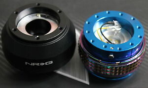 Nrg Steering Wheel Quick Release Hub 2 1 Blue Neo Subaru Brz Scion Frs