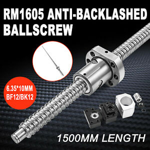 1500mm Cnc Ball Screw Rm1605 C7 Bk bf12 End Support Ballnut Housing