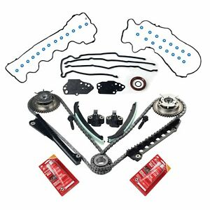For Ford 5 4l Vvti Camshaft Phaser Sprocket Timing Chain Kit Cover Gaskets
