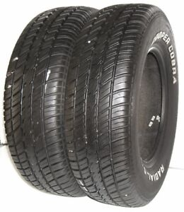 Used Pair Of Cooper Tires P225 70r15 Cobra Radial G T Rwl 100t 2257015