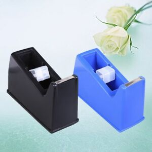 3pcs Desktop Tape Dispenser Nonskid Base Plastic Adhesive Roll Holder For Office