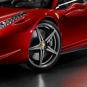 Genuine Ferrari 458 Italia Spider 20 Rims Forged Wheels Set Oem Part 70004980