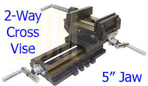 2 Way Cross Vise Clamp Holder Drilling Milling Machine Cross Slide Drill 5 Jaw