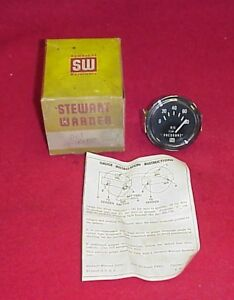 Nos Vintage Electrical Stewart Warner Oil Pressure Gauge Gasser Hot Rod 6 Volt