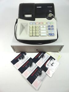 Casio Pcr 260b Electronic Cash Register With Keys And 5 New Ink Rollers Working