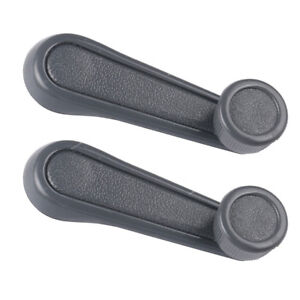 2pcs Window Crank Lever Handle Gray For Toyota Tacoma T100 Pickup Corolla
