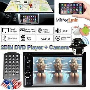 For 95 02 Gmc Chevy Truck Suv 2 Din Hd Radio Stereo Dvd Cd Player Touch Screen