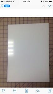Aluminum Sign Blanks 040 X 10 X 14 White 25 Count