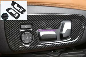 Carbon Fiber Style Interior Car Seat Handle Cover Trim For Bmw X3 G01 2018 2019