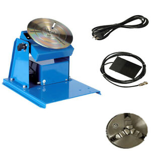 110v Rotary Welding Positioner Turntable Table Mini 2 5 3 Jaw Lathe Chuck 15w