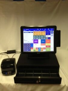 Sam4s Sap 4800ii Androde Pos Touch Screen Cash Register Bundle