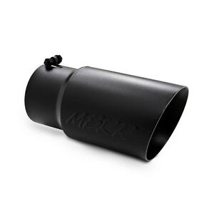 Mbrp Exhaust T5074blk Dual Wall Angled Tail Pipe Tip 5 In 6 Outside 12 Long