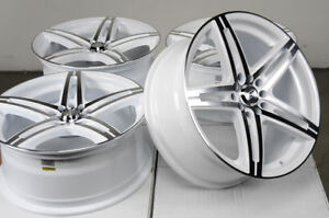 17x7 5 White Wheels Fits Toyota Camry Celica Matrix Optima Mr2 Civic Accord Rims