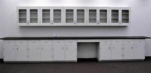 15 Wall 17 Base Laboratory Cabinets W Industrial Tops Ls Open2