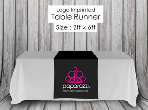 Paparazzi Jewelry Black Table Runner Sign Size 24 X 72