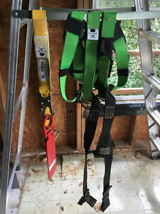 Werner Upgear Fall Protection Harness With Lanyard And Roof Jack