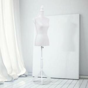 Ikayaa Female Mannequin Torso Dress Form With Wood Tripod Stand Pinnable R3y5