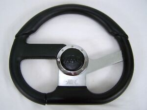 Car Steering Wheel Off Road Racing Golf Cart Go Cart Universal Horn Racing Grip