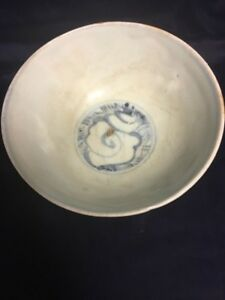 Chinese Ming Swatow Blue And White Porcelain Bowl Southeast Asian Market