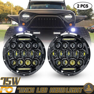 2x7inch Led Projector Headlights Combo Beams For Mazda Miata 1990 1997