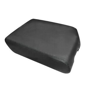Leather Armrest Center Console Lid Cover For 2007 2013 Toyota Tundra Black