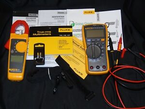 Fluke 117 323 Electrician Kit With Accessories Fluke Case Pre owned Nm