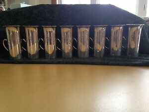 Antique Sterling Silver Loring Andrews Julep Cups With Crest C 1920