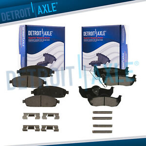 Front Rear Ceramic Brake Pads For 2006 2007 2008 2010 Commander Grand Cherokee