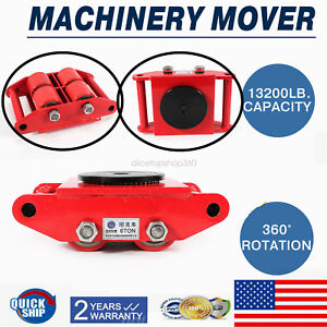 Industrial Machinery Mover With 360 rotation Cap 13200lb 6t Dolly Skate 4 roller