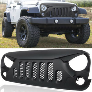 Front Grill Grille Guard Mesh Insert Cover For 2007 2018 Jeep Wrangler Jk Jku