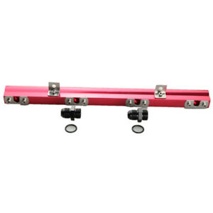 For Volvo 240 740 940 Aluminum High Flow Fuel Injector Rail Kit Red Us