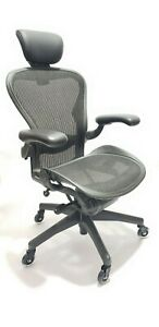Herman Miller Aeron Chair Headrest Size B All Features Adjustable Posturefit