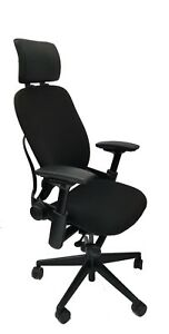 Steelcase Leap Chair Headrest 4 way Arms Adjustable Lumbar Support v2