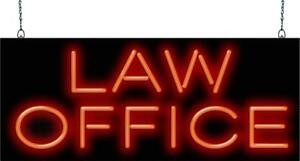 Law Office Neon Sign Jantec 2 Sizes Lawyer Clients Legal Real Neon