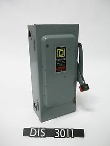Square D 600 Volt 30 Amp Non Fused Disconnect Safety Switch dis3011