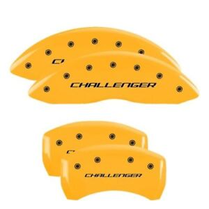 Mgp 12162sclbyl Yellow Caliper Covers Set Of 4 For Dodge Challenger charger