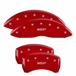 Mgp 23216smgprd Red Caliper Covers Set Of 4 For 03 06 Mercedes Benz Sl500 Base