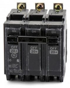 General Electric Thqb32020 3 Pole Circuit Breaker