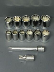 New Williams 13 Piece 3 4 Drive Sae Socket Extension Bar Set Made In Usa