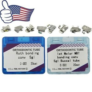 Us Dental Orthodontic Convertible Buccal Tubes First Molar Bondable Mbt Roth 022