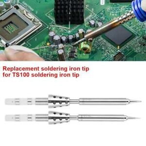 Stainless Steel Replacement Mini Soldering Iron Tip Pen For Ts100 Soldering Iron