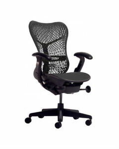 Herman Miller Mirra Chair Tri flex Back All Features Adjustable Lumbar Support