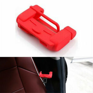 1pc Universal Car Auto Seat Belt Buckle Silicone Cover Clip Anti Scratch Red
